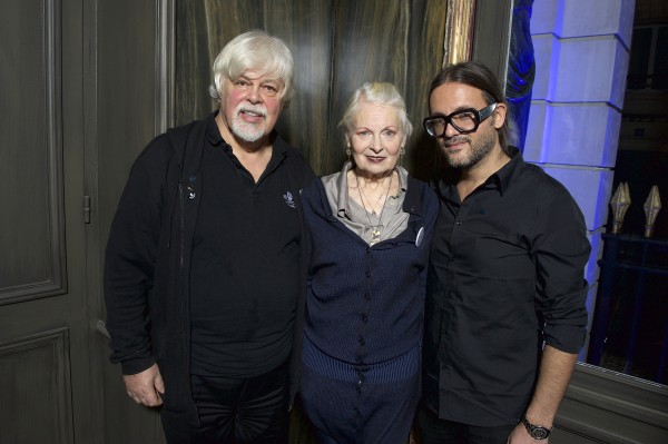 Captain Paul Watson, Vivienne Westwood and Cyrill Gutsch.